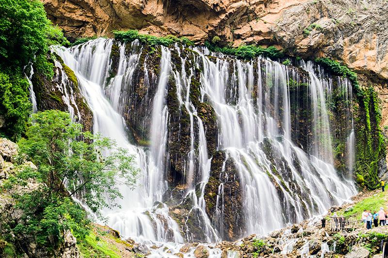 Kayseri Yahyalı Kapuzbaşı Şelaleleri Uzun Pozlama Fotoğrafı